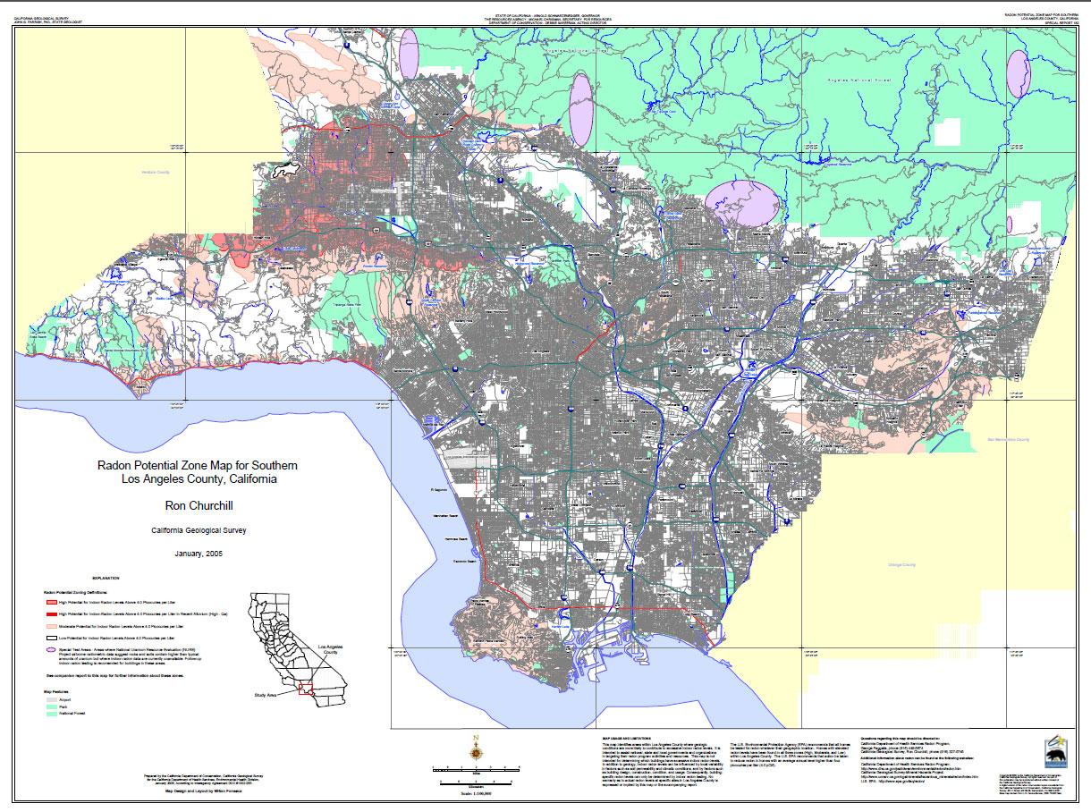 Radon At Tahoe Radon Maps - Los angeles unified map