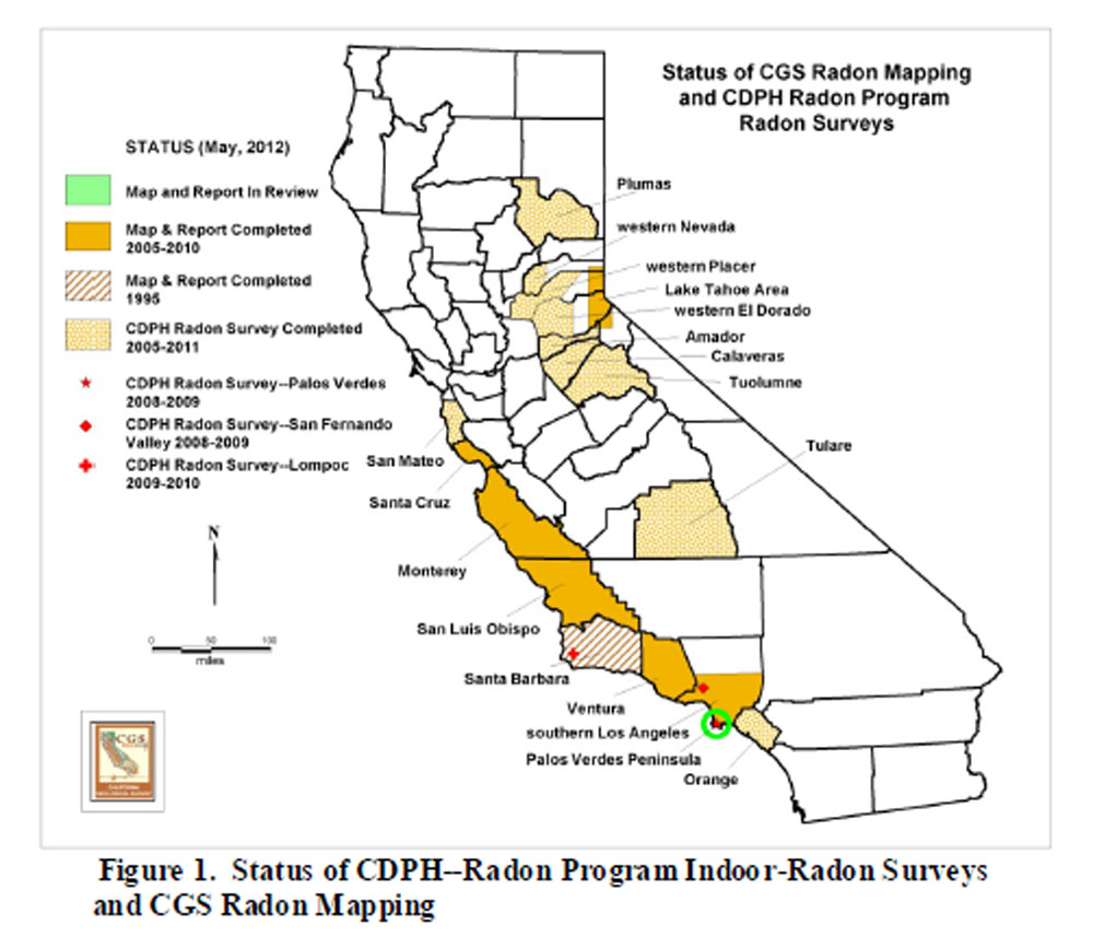 Palos Verdes Zip Code Map.Radon At Tahoe Radon Maps